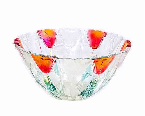 Ваза для фруктов GLASS FRUIT BOWL