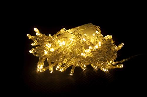 Гирлянда светодиодная 100 LED, желтая