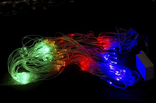 Гирлянда - сетка светодиодная 100 LED, цветная