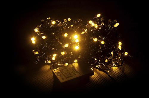 Гирлянда светодиодная 300 LED линза,желтая