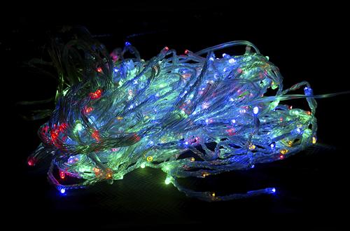 Гирлянда - водопад 360 LED, цветная