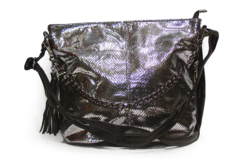 Женская сумка Лазерка 838-1 Серебро