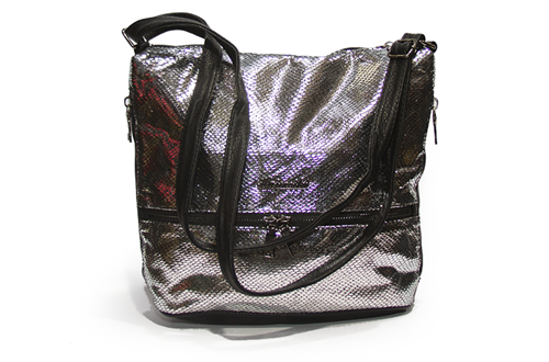 Женская сумка Лазерка 909 Серебро