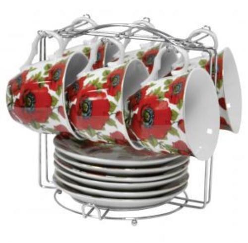 """Набор чайный Оселя """"Красные маки"""" 21-245-010"""