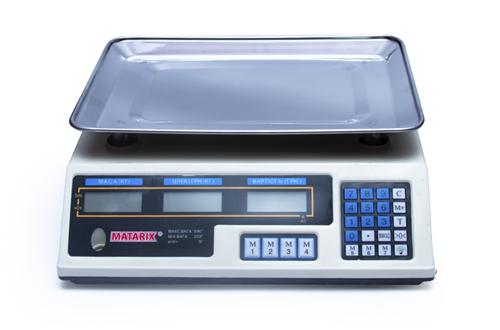 Электровесы со счетчиком цены MATARIX MX-410B