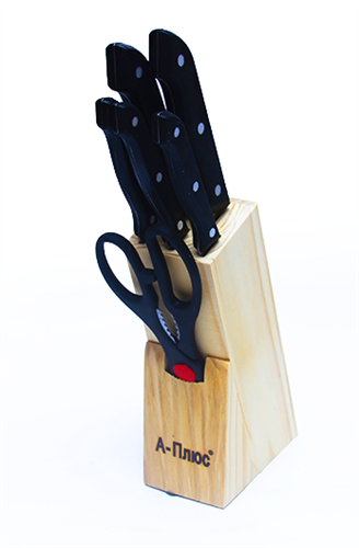 Набор ножей на подставке А-Плюс 1001
