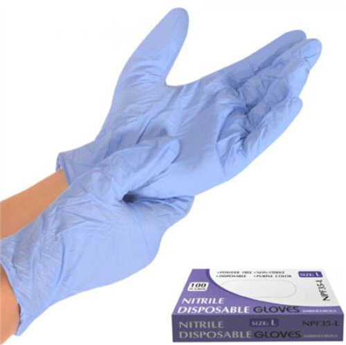 Перчатка нитриловая неопудренная L NPF35-L